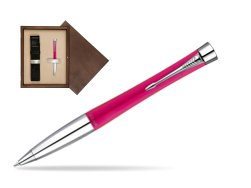 Parker Urban Fashion Cool Magenta Lacquer CT Ballpoint Pen  single wooden box  Wenge Single Ecru