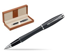 Parker Urban Classic Muted Black Lacquer CT Rollerball Pen  in classic box brown