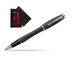 Parker Urban Classic Muted Black Lacquer CT Rollerball Pen  single wooden box  Black Single Maroon