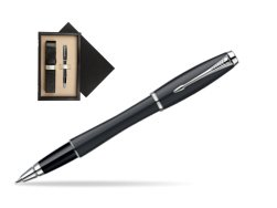 Parker Urban Classic Muted Black Lacquer CT Rollerball Pen  single wooden box  Wenge Single Ecru