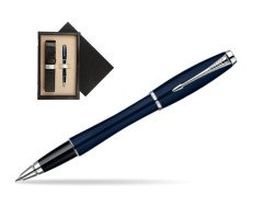 Parker Urban Classic Nightsky Blue Lacquer CT Rollerball Pen  single wooden box  Wenge Single Ecru