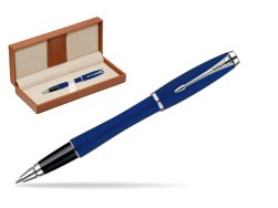 Parker Urban Fashion Bay City Blue Lacquer CT Rollerball Pen  in classic box brown