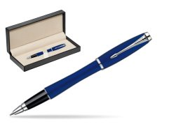 Parker Urban Fashion Bay City Blue Lacquer CT Rollerball Pen  in classic box  pure black