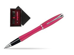Parker Urban Fashion Cool Magenta Lacquer CT Rollerball Pen  single wooden box  Black Single Maroon