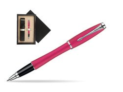 Parker Urban Fashion Cool Magenta Lacquer CT Rollerball Pen  single wooden box  Wenge Single Ecru