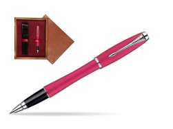 Parker Urban Fashion Cool Magenta Lacquer CT Rollerball Pen  single wooden box Mahogany Single Maroon