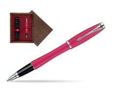 Parker Urban Fashion Cool Magenta Lacquer CT Rollerball Pen  single wooden box  Wenge Single Maroon