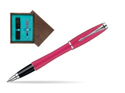 Parker Urban Fashion Cool Magenta Lacquer CT Rollerball Pen  single wooden box  Wenge Single Turquoise