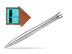 Parker Urban Classic Metro Metallic CT Mechanical Pencil  single wooden box  Mahogany Single Turquoise
