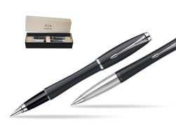 Parker Urban Classic Muted Black Lacquer CT Fountain Pen + Parker Urban Classic Muted Black Lacquer CT Ballpoint Pen in a Gift Box