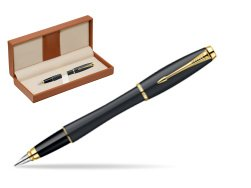 Parker Urban Classic Muted Black Lacquer GT Fountain Pen  in classic box brown