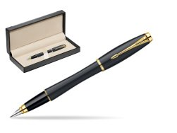 Parker Urban Classic Muted Black Lacquer GT Fountain Pen  in classic box  black