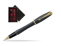 Parker Urban Classic Muted Black Lacquer GT Fountain Pen  single wooden box  Black Single Maroon
