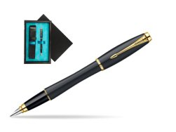 Parker Urban Classic Muted Black Lacquer GT Fountain Pen  single wooden box  Black Single Turquoise