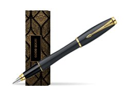 Parker Urban Classic Muted Black Lacquer GT Fountain Pen in cover Good fortune
