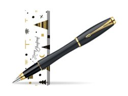 Parker Urban Classic Muted Black Lacquer GT Fountain Pen in cover Snow Gift
