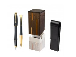 Parker Urban Classic Muted Black Lacquer GT Fountain Pen + Parker Urban Classic Muted Black Lacquer GT Ballpoint Pen in a Gift Box  StandUP Matrix