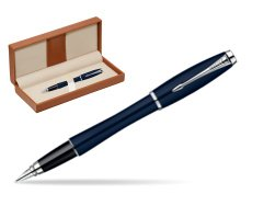 Parker Urban Classic Nightsky Blue Lacquer CT Fountain Pen  in classic box brown
