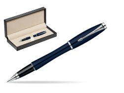 Parker Urban Classic Nightsky Blue Lacquer CT Fountain Pen  in classic box  pure black