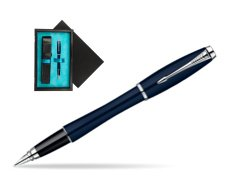 Parker Urban Classic Nightsky Blue Lacquer CT Fountain Pen  single wooden box  Black Single Turquoise