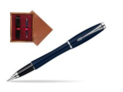 Parker Urban Classic Nightsky Blue Lacquer CT Fountain Pen  single wooden box Mahogany Single Maroon