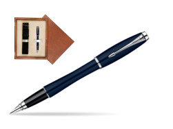 Parker Urban Classic Nightsky Blue Lacquer CT Fountain Pen  single wooden box  Mahogany Single Ecru