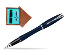 Parker Urban Classic Nightsky Blue Lacquer CT Fountain Pen  single wooden box  Mahogany Single Turquoise