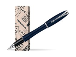 Parker Urban Classic Nightsky Blue Lacquer CT Fountain Pen in cover For real man