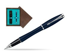 Parker Urban Classic Nightsky Blue Lacquer CT Fountain Pen  single wooden box  Wenge Single Turquoise