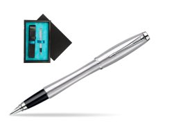 Parker Urban Classic Metro Metallic CT Fountain Pen  single wooden box  Black Single Turquoise