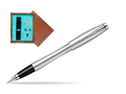Parker Urban Classic Metro Metallic CT Fountain Pen in single wooden box  Mahogany Single Turquoise