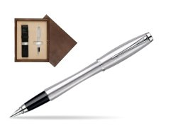 Parker Urban Classic Metro Metallic CT Fountain Pen in single wooden box  Wenge Single Ecru