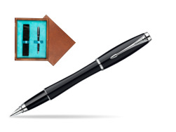 Parker Urban Fashion London Cab Black Lacquer CT Fountain Pen  single wooden box  Mahogany Single Turquoise