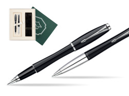 "Parker Urban Fashion London Cab Black Lacquer CT Fountain Pen + Parker Urban Fashion London Cab Black Lacquer CT Ballpoint Pen in a Gift Box in Gift Box ""Science"""