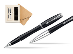 Parker Urban Fashion London Cab Black Lacquer CT Fountain Pen + Parker Urban Fashion London Cab Black Lacquer CT Ballpoint Pen in a Gift Box in Standard 2 Gift Box