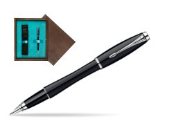Parker Urban Fashion London Cab Black Lacquer CT Fountain Pen  single wooden box  Wenge Single Turquoise