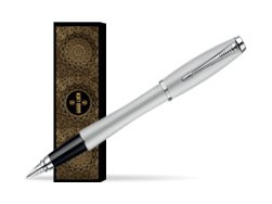 Parker Urban Fashion Fast Track Silver Lacquer CT Fountain Pen in cover Oriental happiness