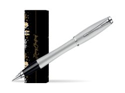 Parker Urban Fashion Fast Track Silver Lacquer CT Fountain Pen in cover Golden Tree