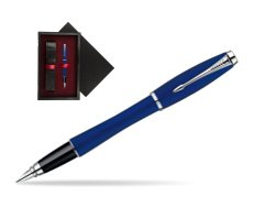 Parker Urban Fashion Bay City Blue Lacquer CT Fountain Pen  single wooden box  Black Single Maroon