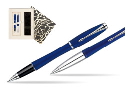Parker Urban Fashion Bay City Blue Lacquer CT Fountain Pen + Parker Urban Fashion Bay City Blue Lacquer CT Ballpoint Pen in a Gift Box in Standard Gift Box