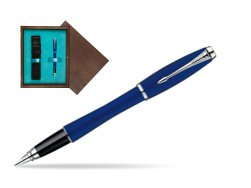 Parker Urban Fashion Bay City Blue Lacquer CT Fountain Pen  single wooden box  Wenge Single Turquoise