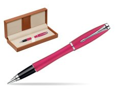 Parker Urban Fashion Cool Magenta Lacquer CT Fountain Pen  in classic box brown