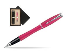 Parker Urban Fashion Cool Magenta Lacquer CT Fountain Pen  single wooden box  Wenge Single Ecru