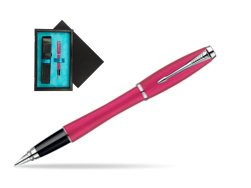 Parker Urban Fashion Cool Magenta Lacquer CT Fountain Pen  single wooden box  Black Single Turquoise