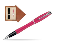 Parker Urban Fashion Cool Magenta Lacquer CT Fountain Pen  single wooden box  Mahogany Single Ecru