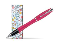 Parker Urban Fashion Cool Magenta Lacquer CT Fountain Pen in cover Good luck