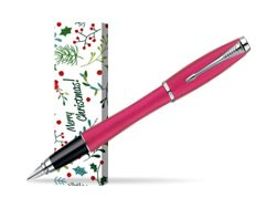 Parker Urban Fashion Cool Magenta Lacquer CT Fountain Pen in cover Merry Mistletoe