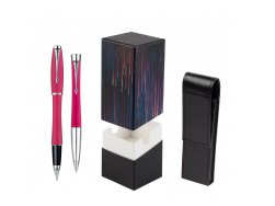 Parker Urban Fashion Cool Magenta Lacquer CT Fountain Pen + Parker Urban Fashion Cool Magenta Lacquer CT Ballpoint Pen in a Gift Box  StandUP Crazy line
