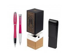 Parker Urban Fashion Cool Magenta Lacquer CT Fountain Pen + Parker Urban Fashion Cool Magenta Lacquer CT Ballpoint Pen in a Gift Box  StandUP For Men Only