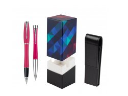 Parker Urban Fashion Cool Magenta Lacquer CT Fountain Pen + Parker Urban Fashion Cool Magenta Lacquer CT Ballpoint Pen in a Gift Box  StandUP Kaleidoscope